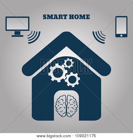 Smart Home Concept Symbol Vector Illustration Eps 10