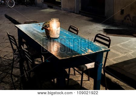 Florence Blue Table
