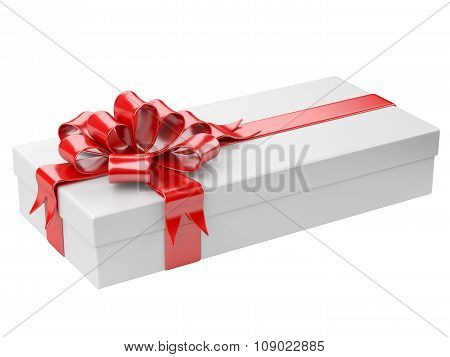 White Gift Box With Blank Gift Tag