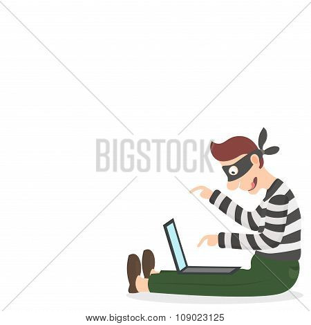 Thief In A Mask Stealing Personal Information Via The Internet