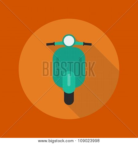 Transportation Flat Icon. Scooter Motorcycle
