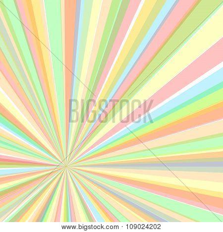 Eccentric Rays Background, Vector Illustration