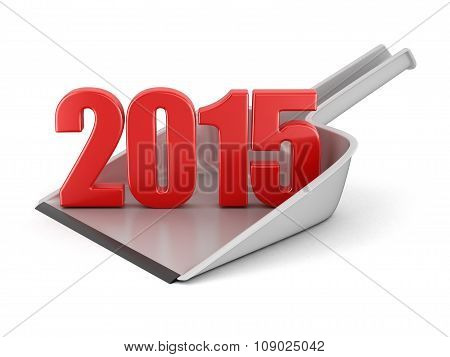 Dustpan and 2015 (clipping path included)