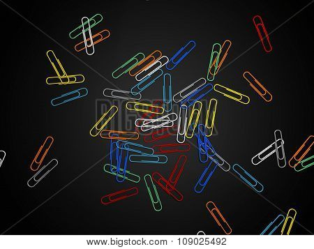 Paper clip isolated. 3d rendering