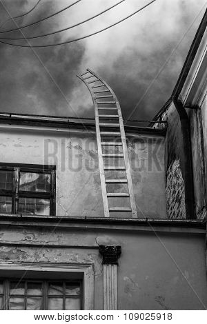 Ladder Going Up In To The Sky