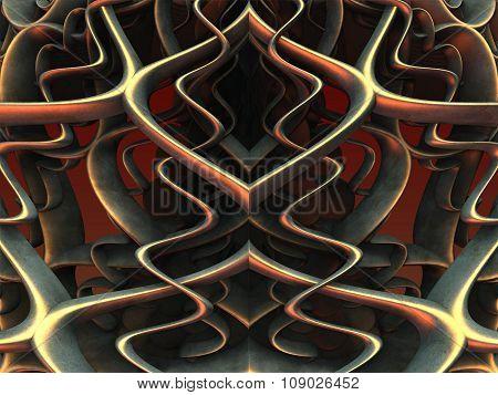 Metallic spirals background