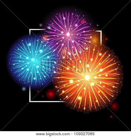 Festive Fireworks. Holidays Background