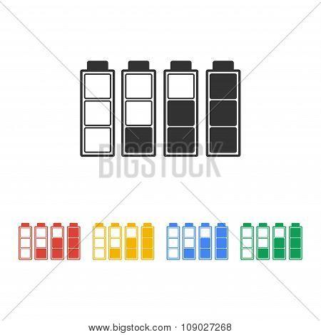 Set Of Battery Charge Level Indicators.
