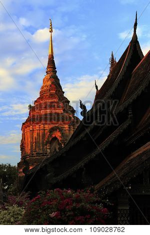 Buddhist temple in the Northern province of Thailand