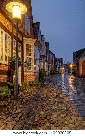 Old Traditional House At Wet Uldgade Street In Toender Denmark