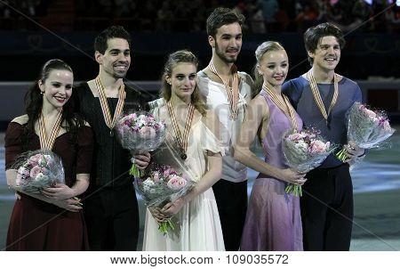 Ice Dance Victory Ceremony