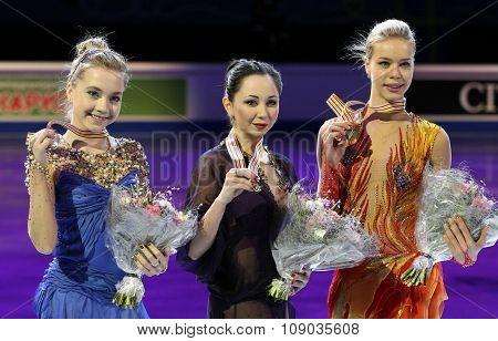 Radionova (l), Tuktamysheva, Pogorilaya