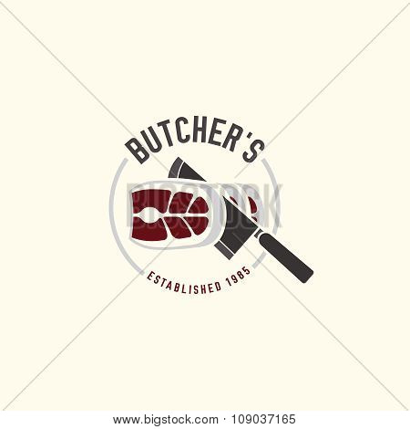 Butcher shop logo 05 A