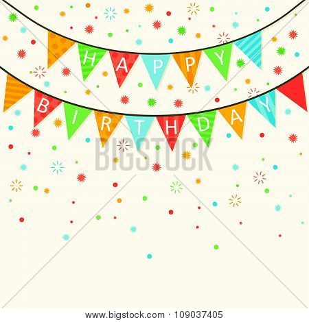 Happy Birthday - Vector Birthday card - eps10