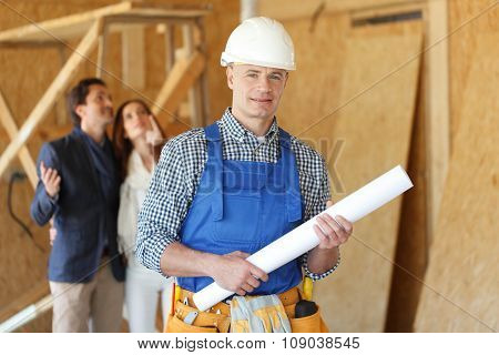 Foreman With Design Plans