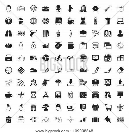 Office 100  Icons Set For Web
