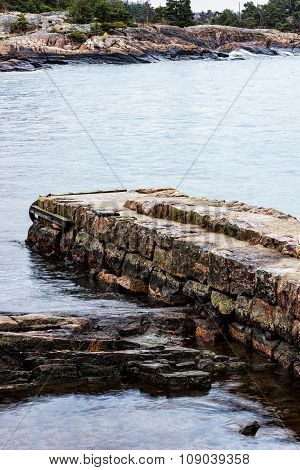 Part of old stone pier