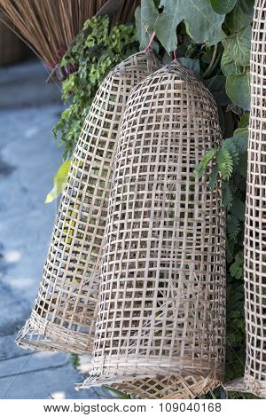 bamboo wicker cage