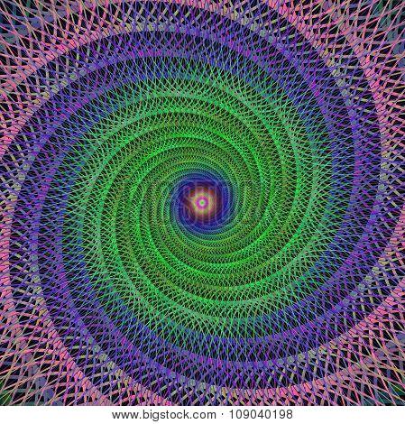 Spiral fractal design background