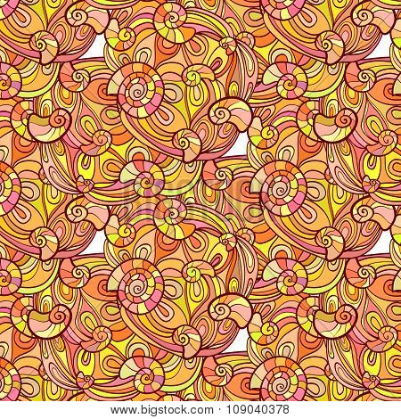 Autumn Seashell Pattern