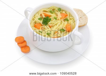 Noodle Soup In Cup Isolated