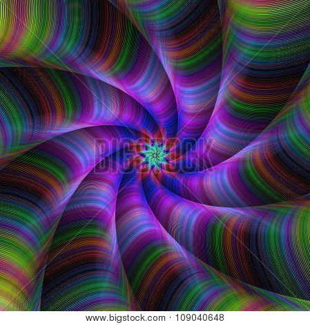 Colorful abstract fractal background design
