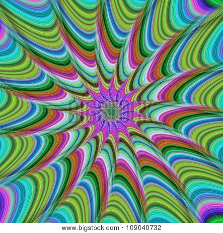 Colorful abstract striped ray design background