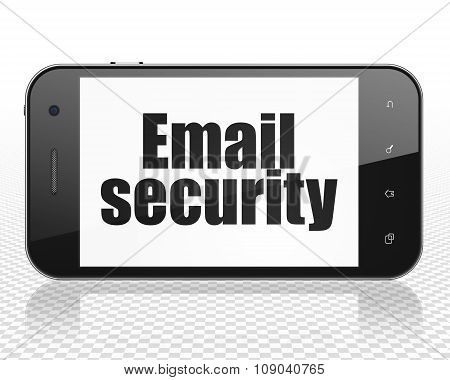 Protection concept: Smartphone with Email Security on display