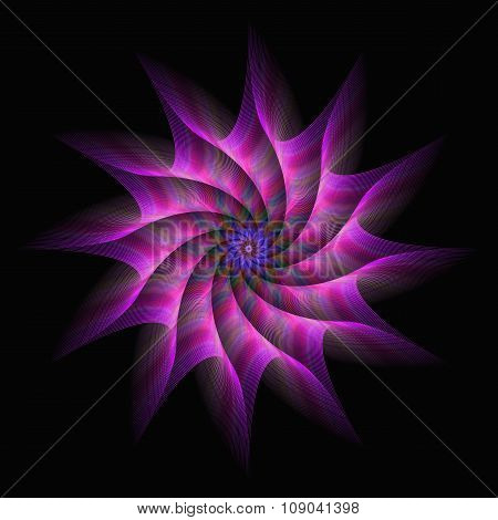 Pink purple motion star fractal abstract