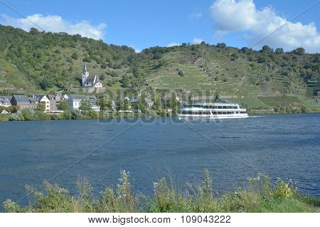 Wine Village of Hatzenport at Mosel River in Mosel Valley,Rhineland-Palatinate,Germany