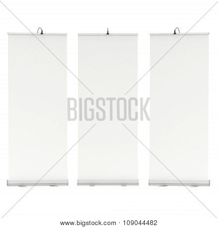 Blank Roll Up Banner Stands