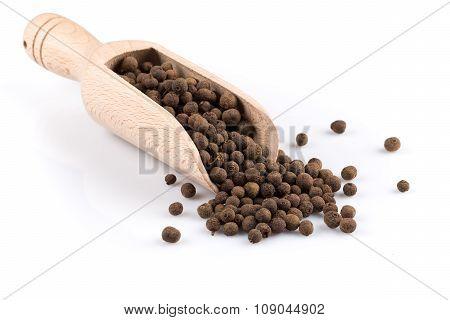 Wooden Shovel With Black Peppercorn