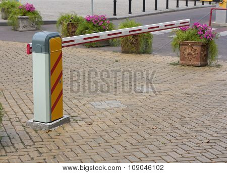 Security Barrier For Parking Vehicles