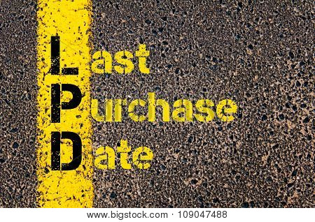 Business Acronym Lpd As Last Purchase Date