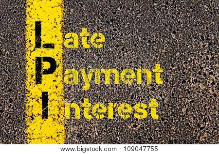 Business Acronym Lpi As Late Payment Interest