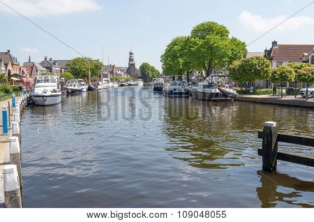 Netherlands - Lemmer - Media May 2014: Pleasure Yachts And Sailboats In The Port Of Lemmer.