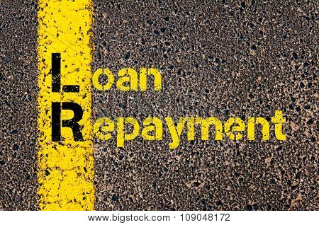 Business Acronym Lr As Loan Repayment