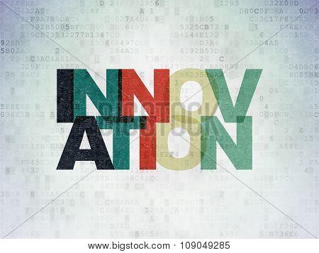 Business concept: Innovation on Digital Paper background