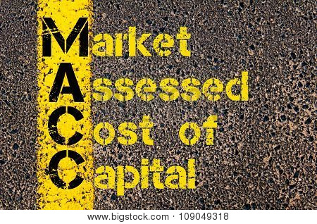 Business Acronym Macc As Market Assessed Cost Of Capital