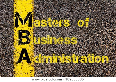 Business Acronym Mba As Masters Of Business Administration