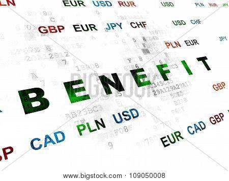 Finance concept: Benefit on Digital background