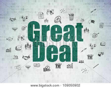 Finance concept: Great Deal on Digital Paper background