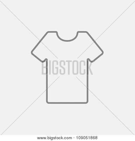 T-shirt line icon for web, mobile and infographics. Vector dark grey icon isolated on light grey background.