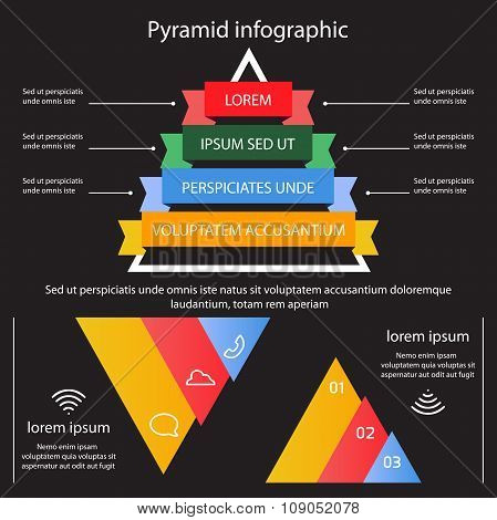 Business Pyramid Infographic Vector