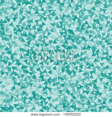 Turquoise triangle abstract backdrop