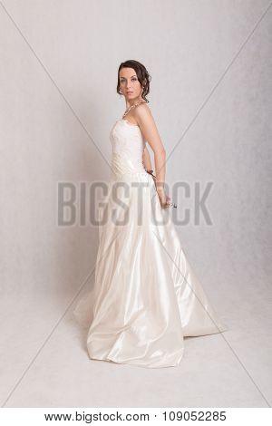 Slim Woman In A White Dress