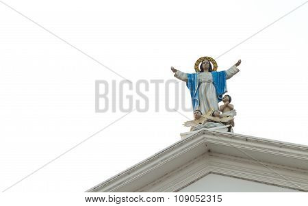 Statue Of Our Lady With Baby Angles