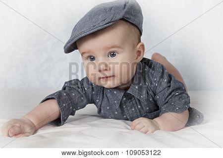 Portrait Of Adorable Baby Boy