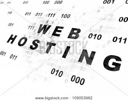 Web design concept: Web Hosting on Digital background