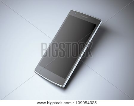 Modern smart phone with blank screen